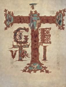 Te igitur Мастер сакраментария Дрого. 21 x 18 см. Пергамент. Париж. Национальная библиотека.